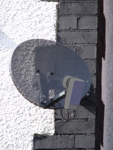 Satellite Dish install zoomed in